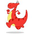 Running dinosaur vector