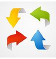 Abstract red blue green yellow arrows set vector