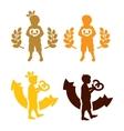 Cookie king kid logo vector