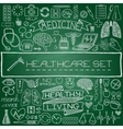 Hand drawn medical set of icons vector