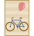 Bicycle and balloon vector