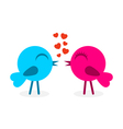 2 falling in love birds vector