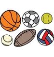 Set of different sport balls vector