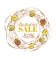 Autumn sale frame vector