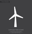 Wind mill premium icon white on dark background vector