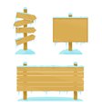 Winter wooden boards vector
