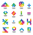 Big collection of logos of abstract modules vector