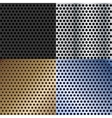 Abstract metallic textures set vector