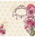 Vintage poppy background vector