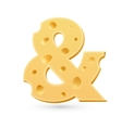 Ampersant or and cheese letter symbol isolated on vector