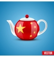 Background of chinese ceramic teapot vector