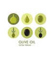 Olive icon set vector