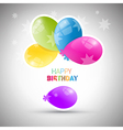 Happy birthday theme colorful air balls vector