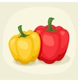 Stylized of fresh ripe peppers vector