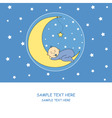 Baby boy moon vector