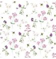 Watercolor wildflower pattern vector