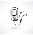 Mp3 player grunge icon vector