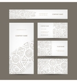 Set of abstract creative business cards design vector