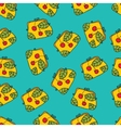 Seamless fashion bag on background pattern vector