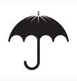 Black umbrella silhouette vector