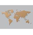World map brown cardboard vector