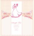 Ballroom wedding couple dancers - invitation vector