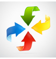Abstract arrows set red blue green yellow orange vector