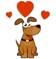Cartoon enamoured dog vector