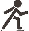 Figure skating icon vector