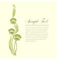 Few sprigs of dill decorative vector