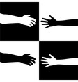Black and white hands vector
