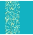 Yellow and blue flowers and leaves vertical vector