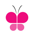 Pink butterfly business logo vector