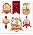 City emblems colored vector