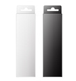 White and black product package box isolated on vector