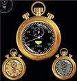 Golden stopwatch vector
