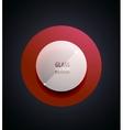 Transparent glass button vector