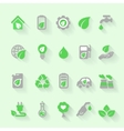 Ecology icons with environment green energy and vector