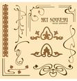 Art nouveau elements vector