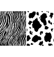 Zebra and cow pattern vector