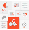 Infographic information board vector
