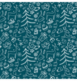 Pattern with deers vector