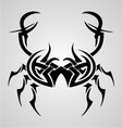 Crab tribal tattoo vector