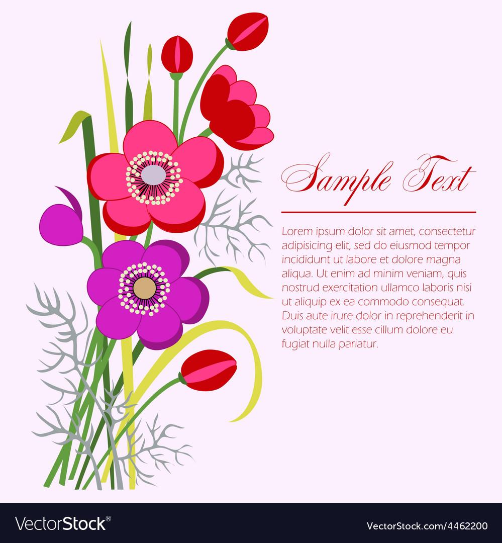 Anemone bouquet vector | Price: 1 Credit (USD $1)