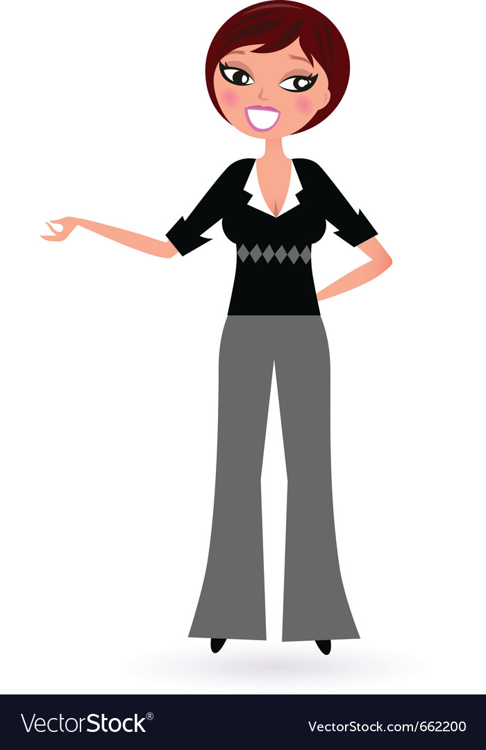 Business woman vector | Price: 1 Credit (USD $1)