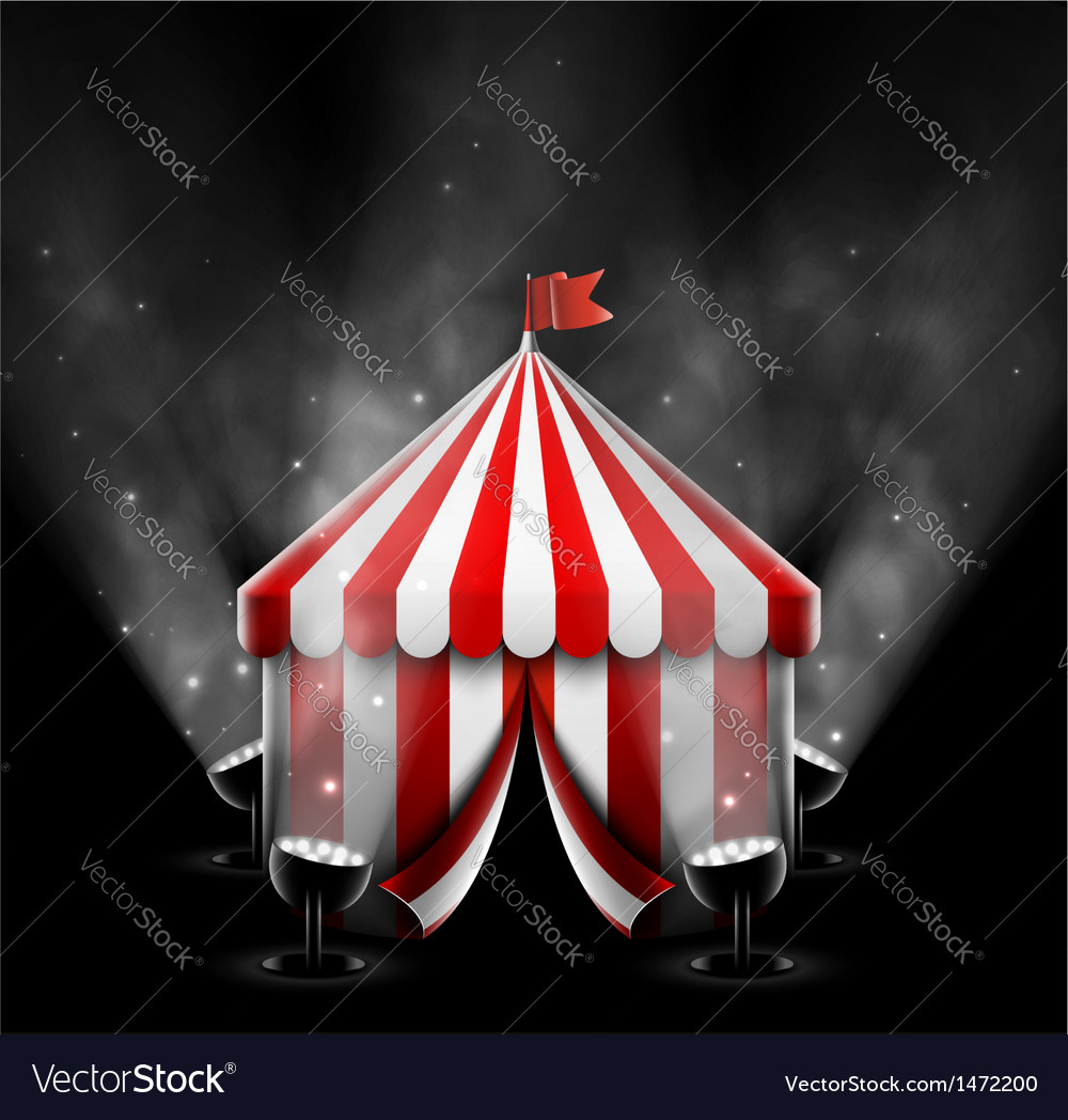 Circus tent with spotlights vector | Price: 1 Credit (USD $1)