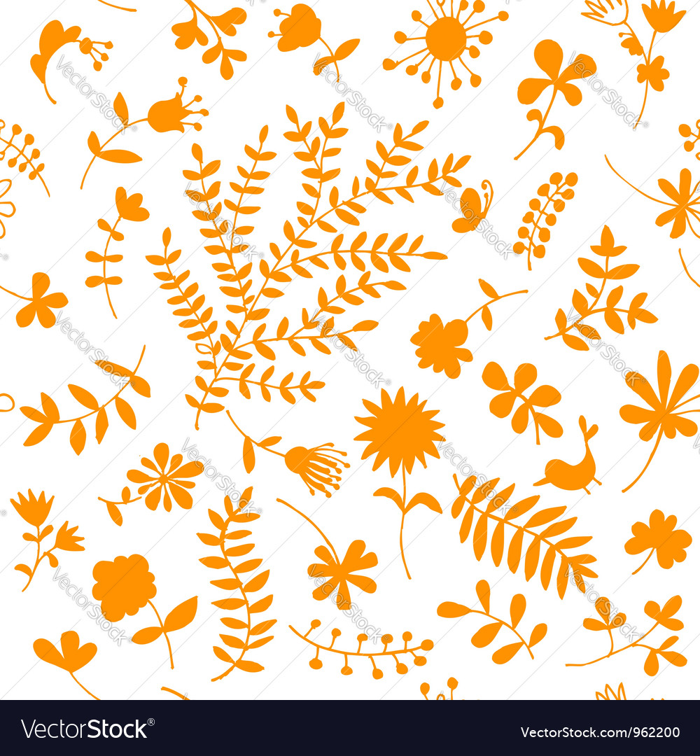 Floral ornament sketch seamless background vector | Price: 1 Credit (USD $1)
