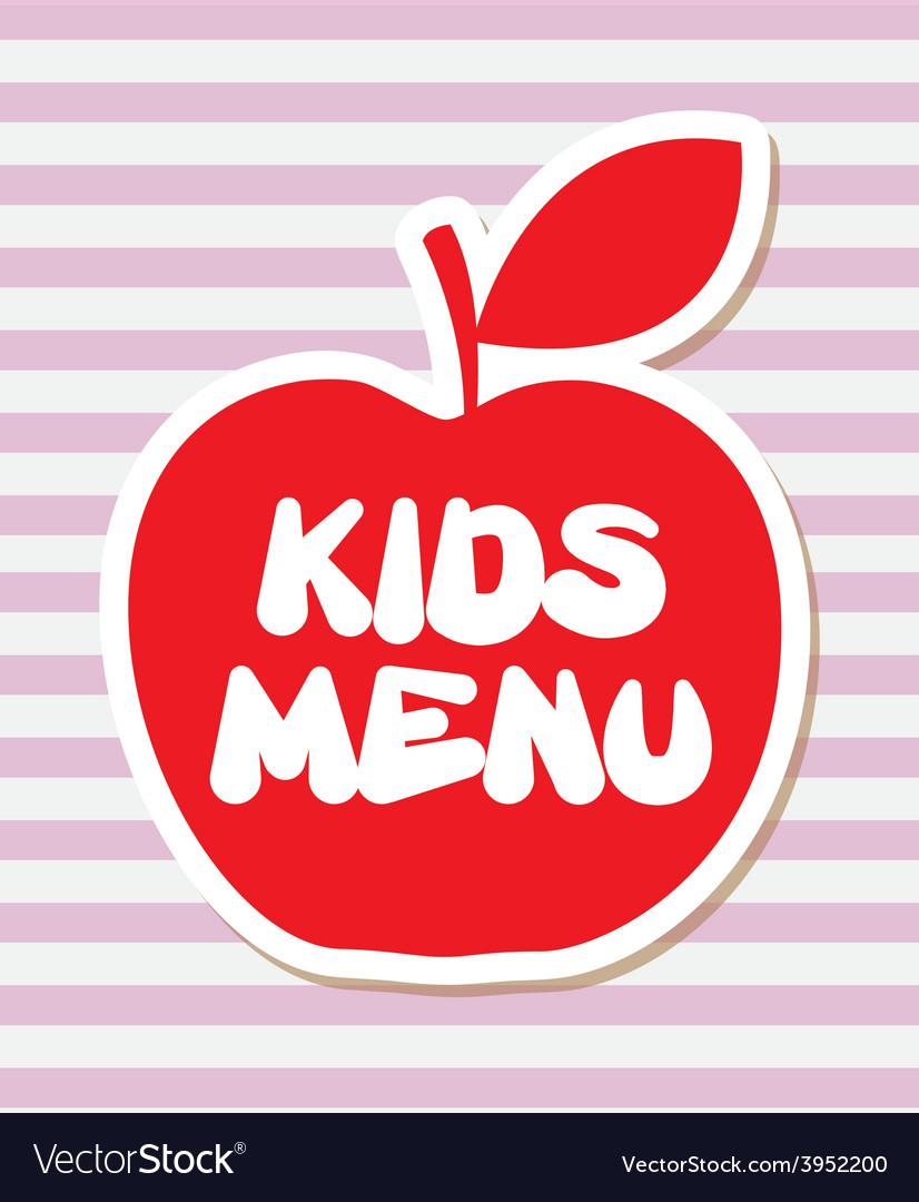 Kids menu vector   Price: 1 Credit (USD $1)