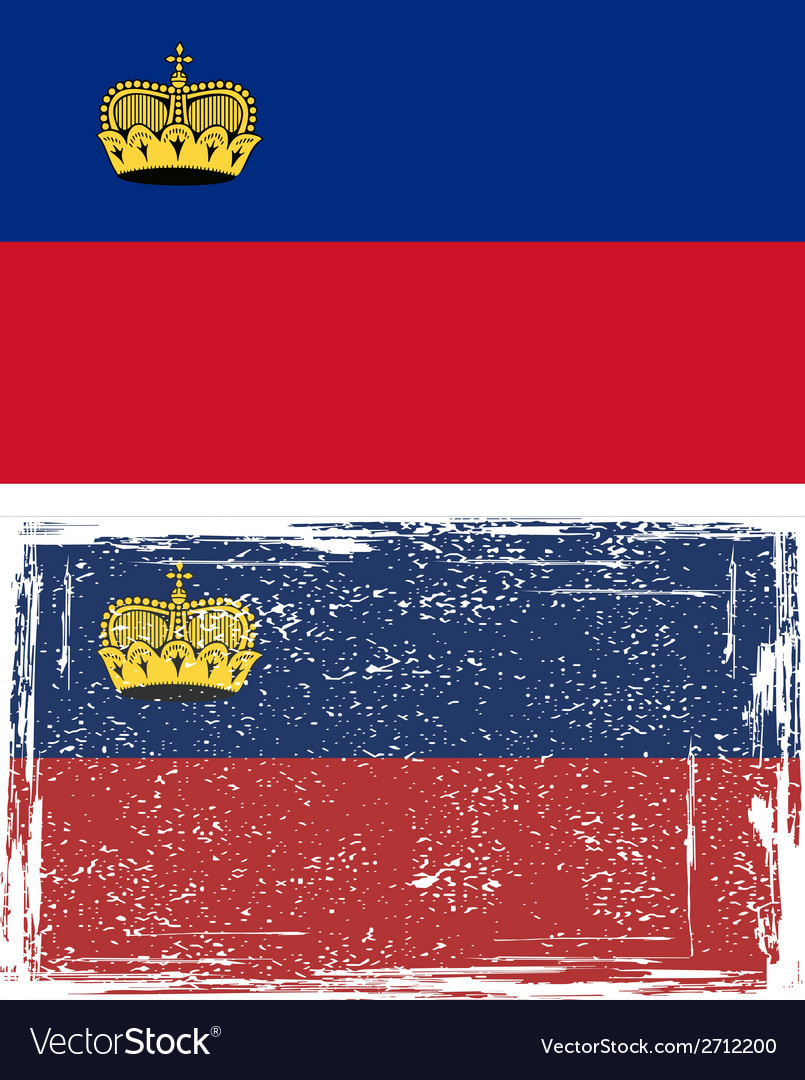 Liechtenstein grunge flag vector | Price: 1 Credit (USD $1)