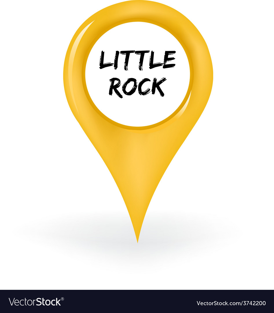 Location little rock vector | Price: 1 Credit (USD $1)